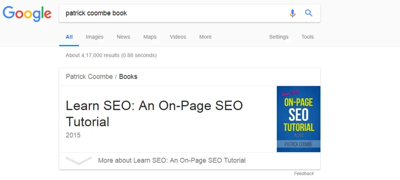 Book rich snippets sample