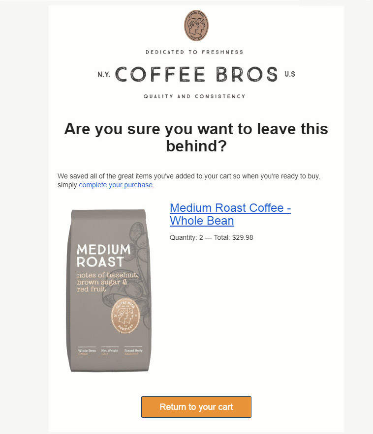 Call to Action Coffee bros