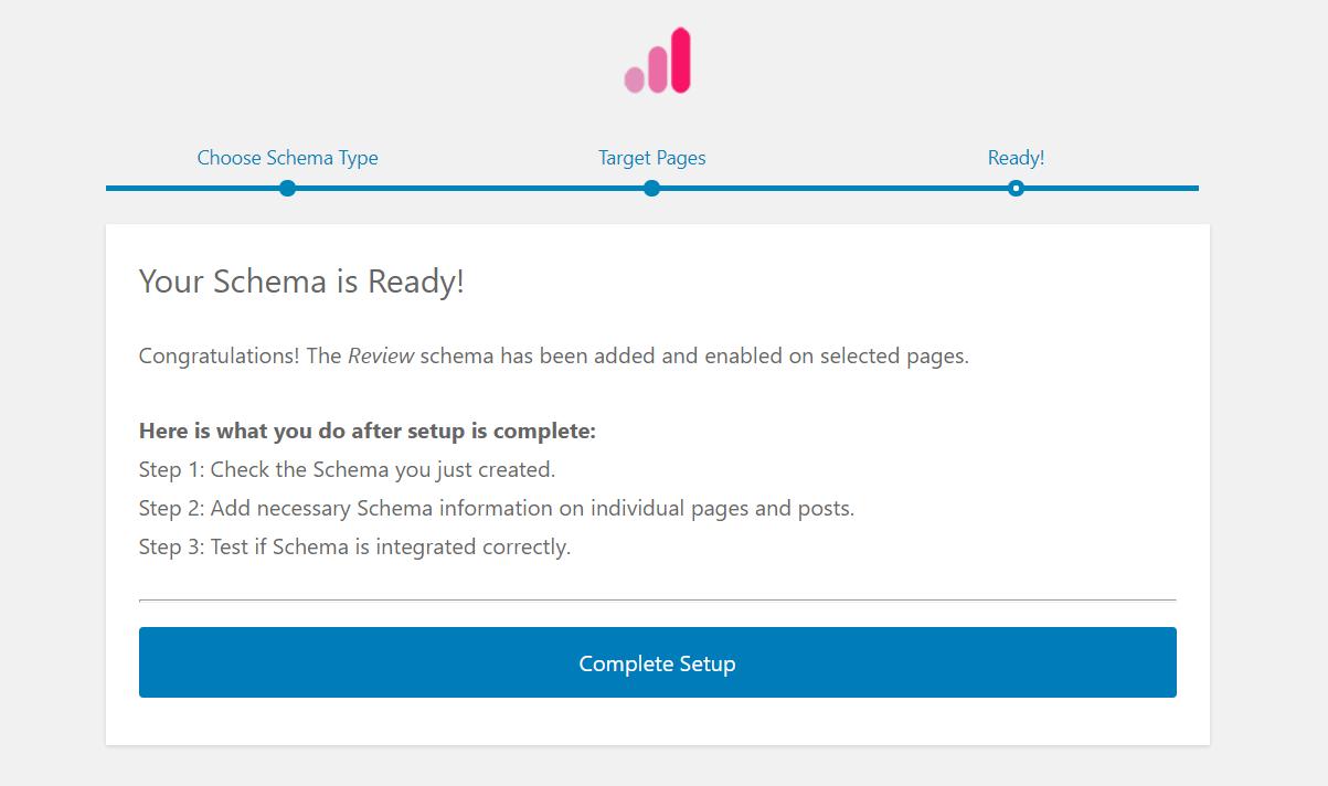Confirmation message after adding schema markup using Schema Pro