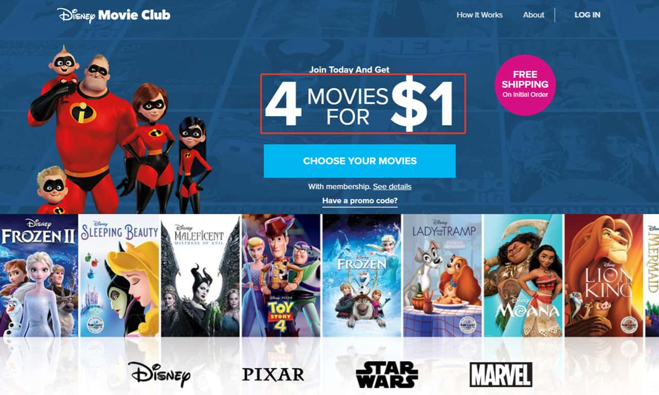 Disney movie club pricing