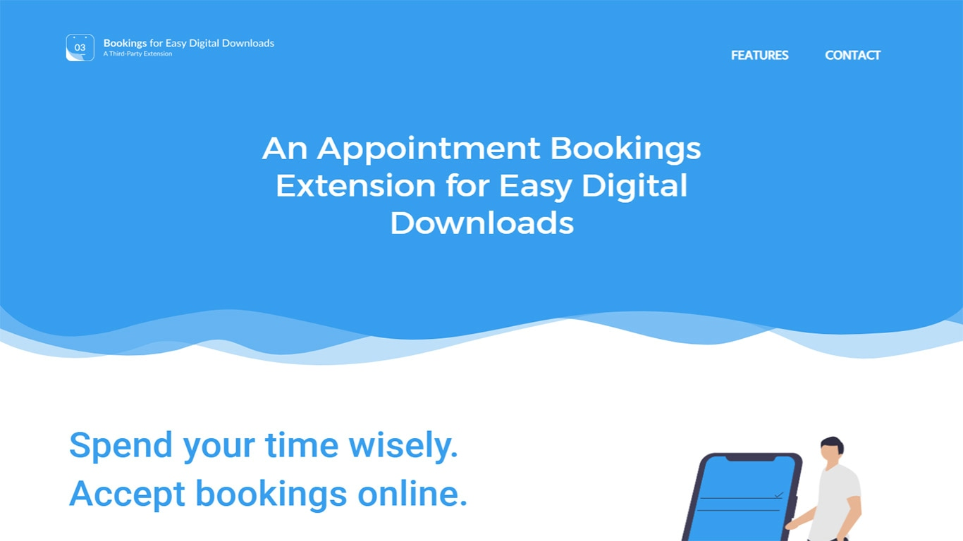 EDD Bookings is an add-on to Easy Digital for adding bookings to the site.