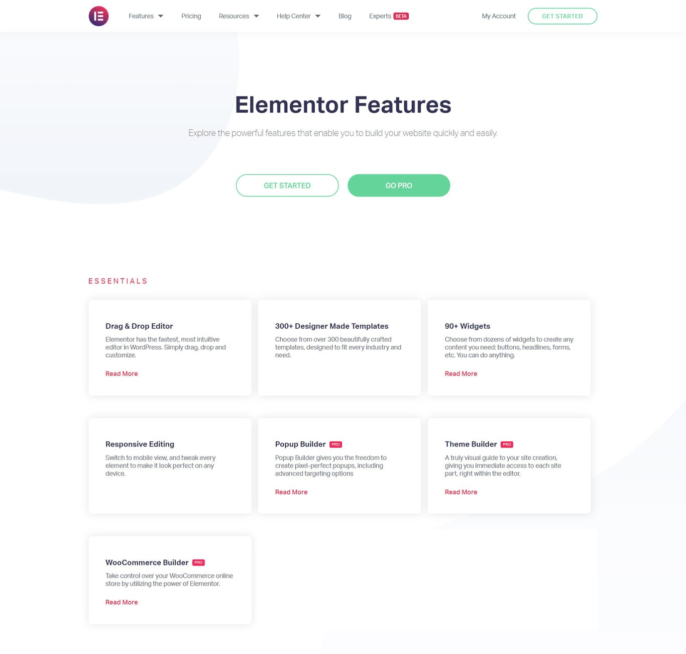 Elementor features image