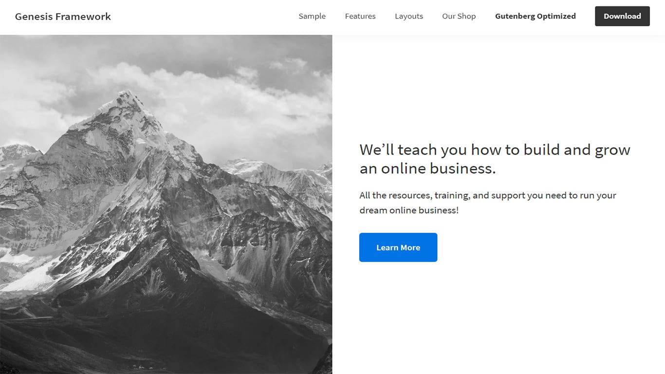 Genesis Framework theme site