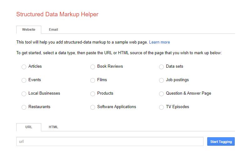 Google's structured data test