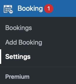 goto booking settings