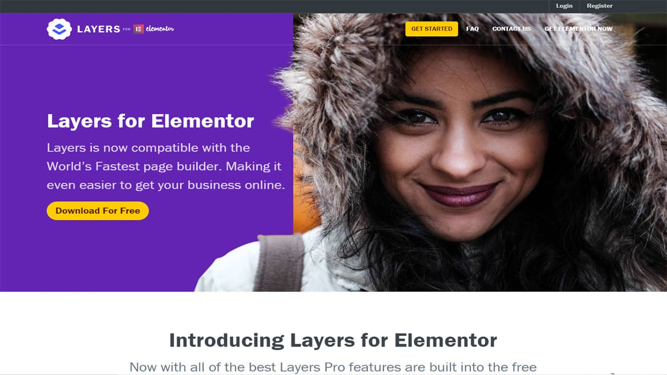 Elementor Layers WP theme site