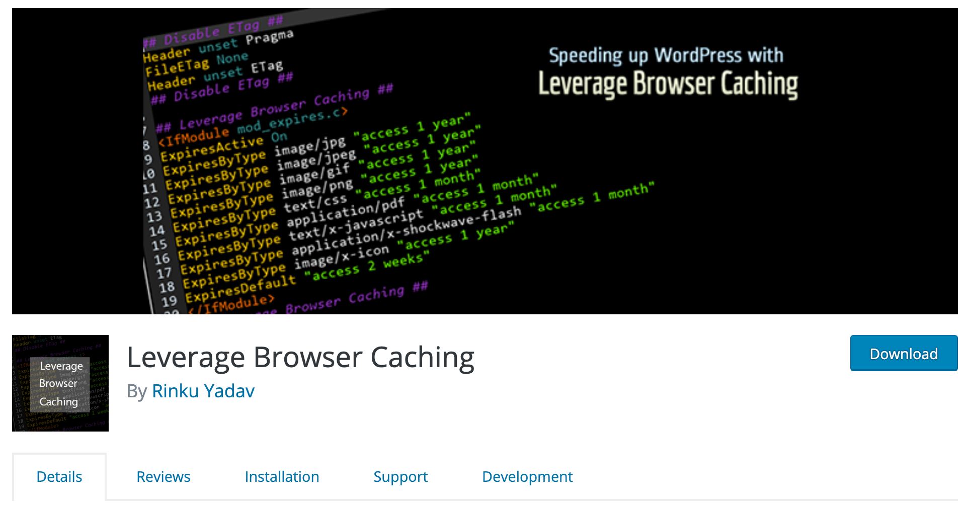 Leverage Browser Caching plugin from WordPress.org