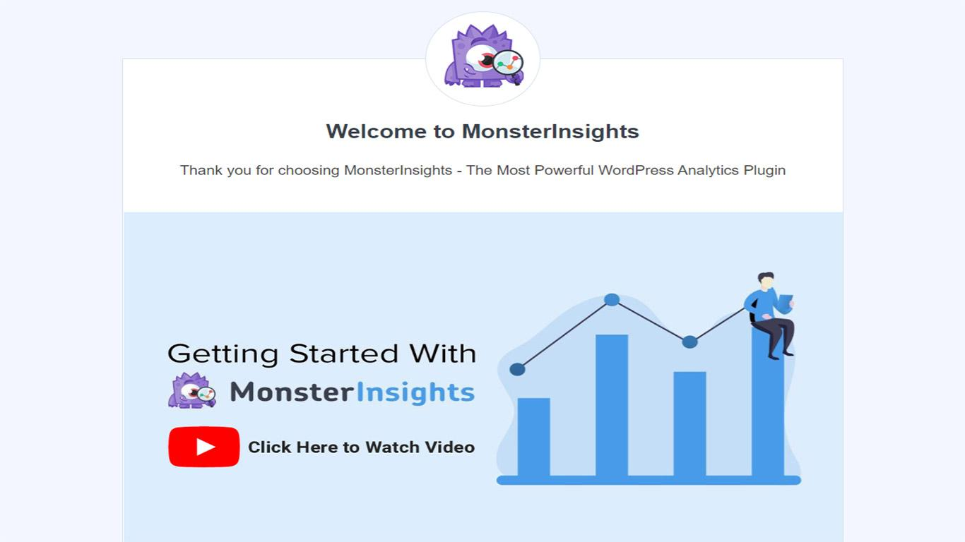 MonsterInsights install wizard