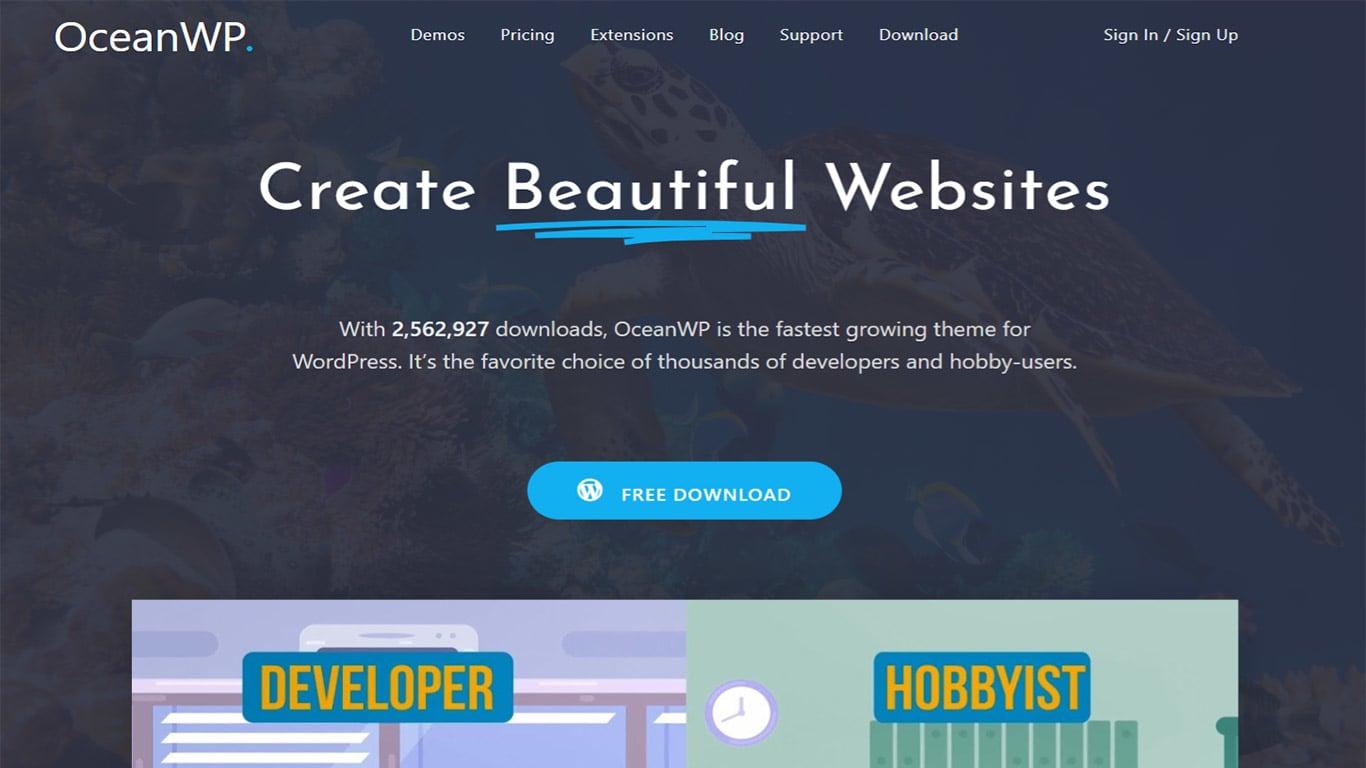 OceanWP theme site image