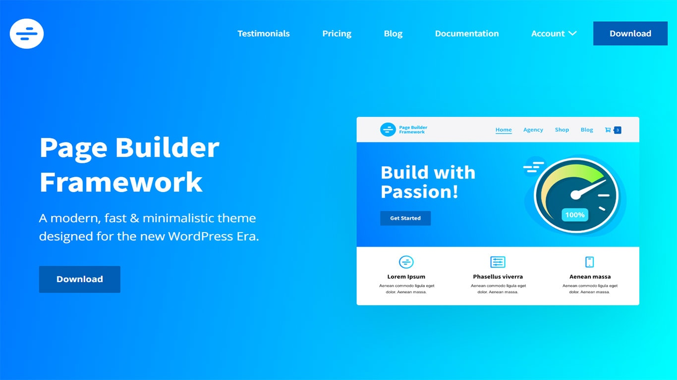Page Builder theme site