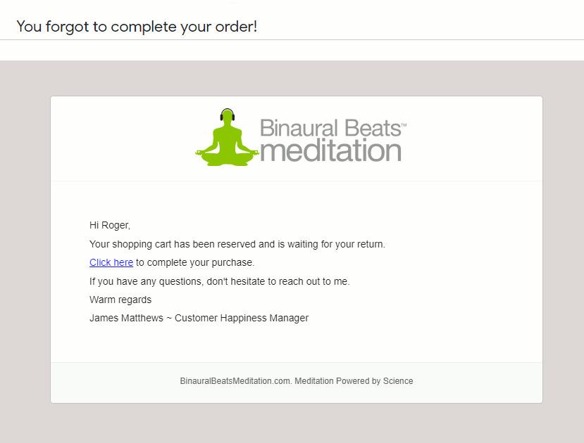 Personalized email by BinaurlBeats
