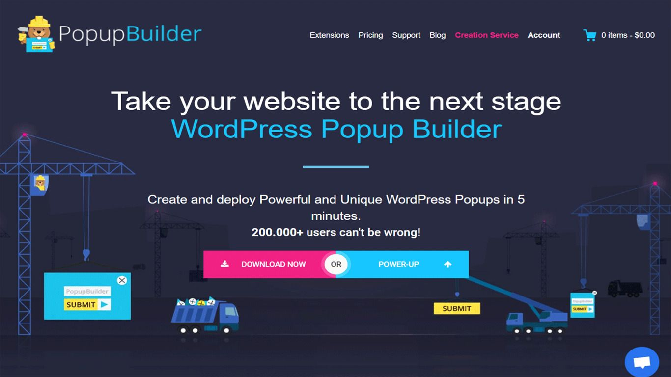 Popup Builder plugin site