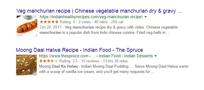 Recipe rich snippets sample