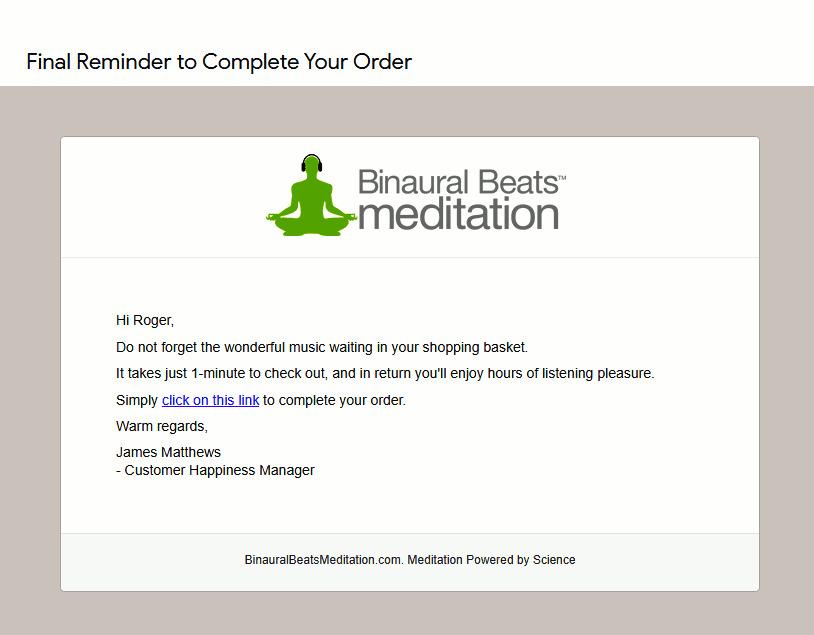 Remind benefits mail BinauralBeats