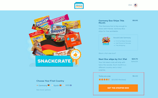 SnackCrate subscription services