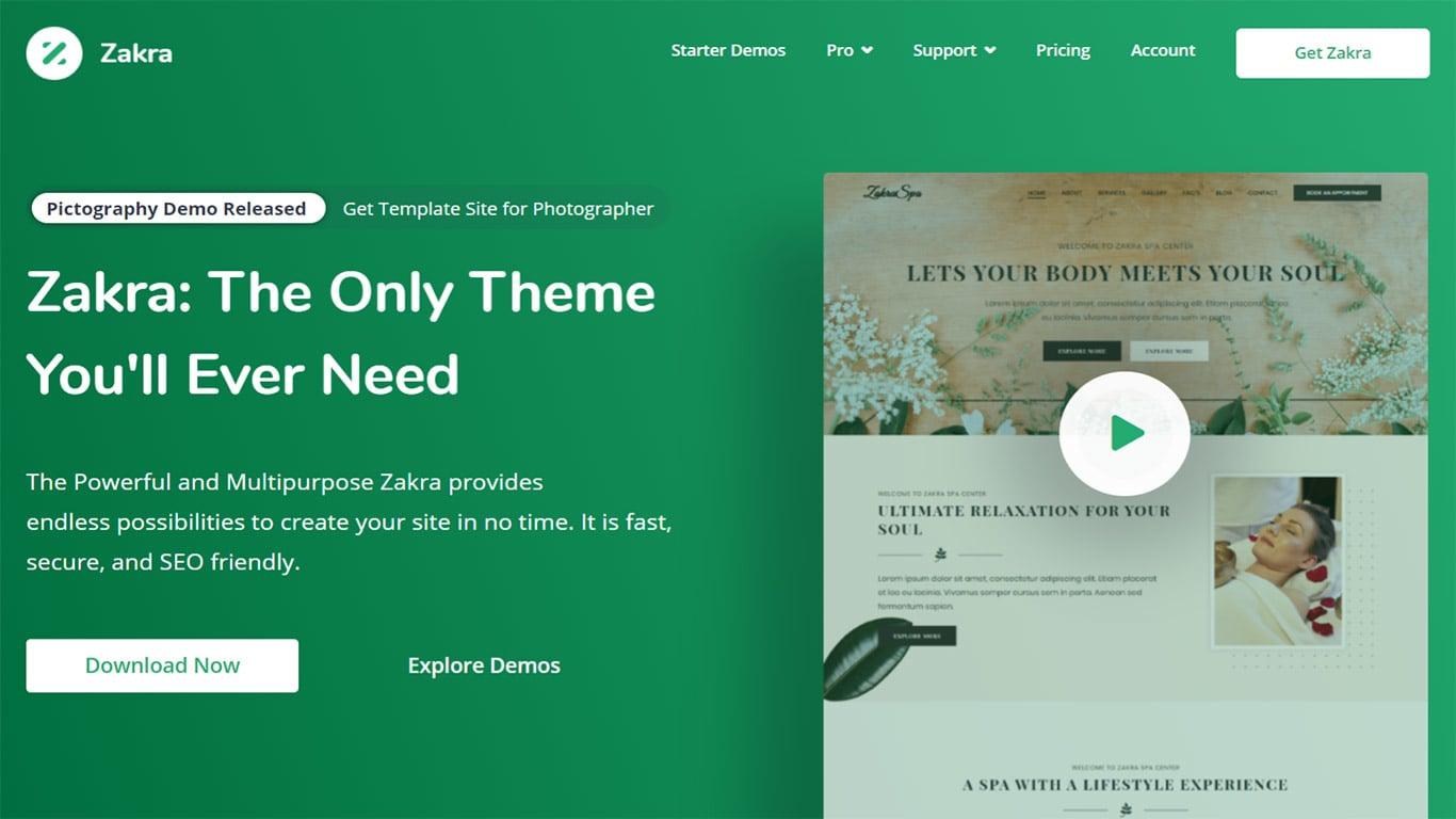 Zakra theme site image