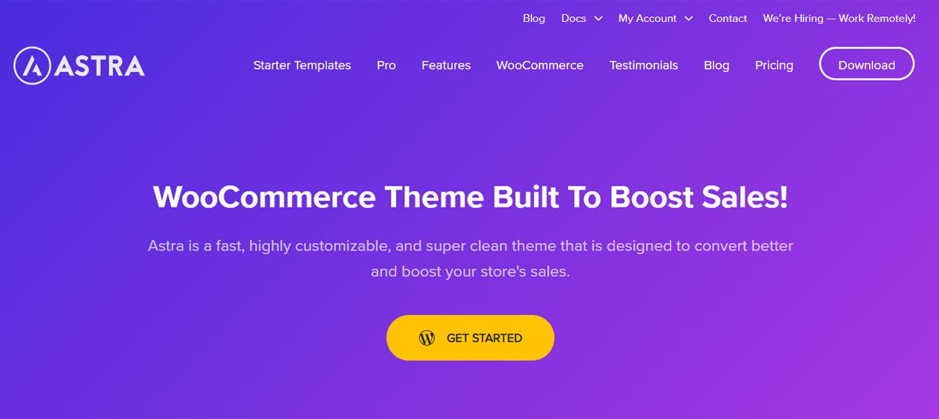 Astra with WooCommerce image