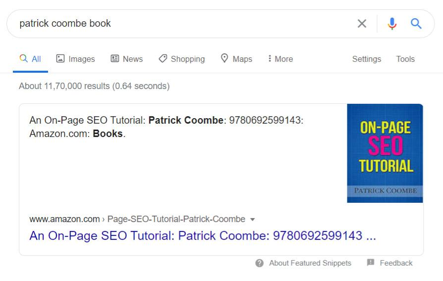 Book information on google
