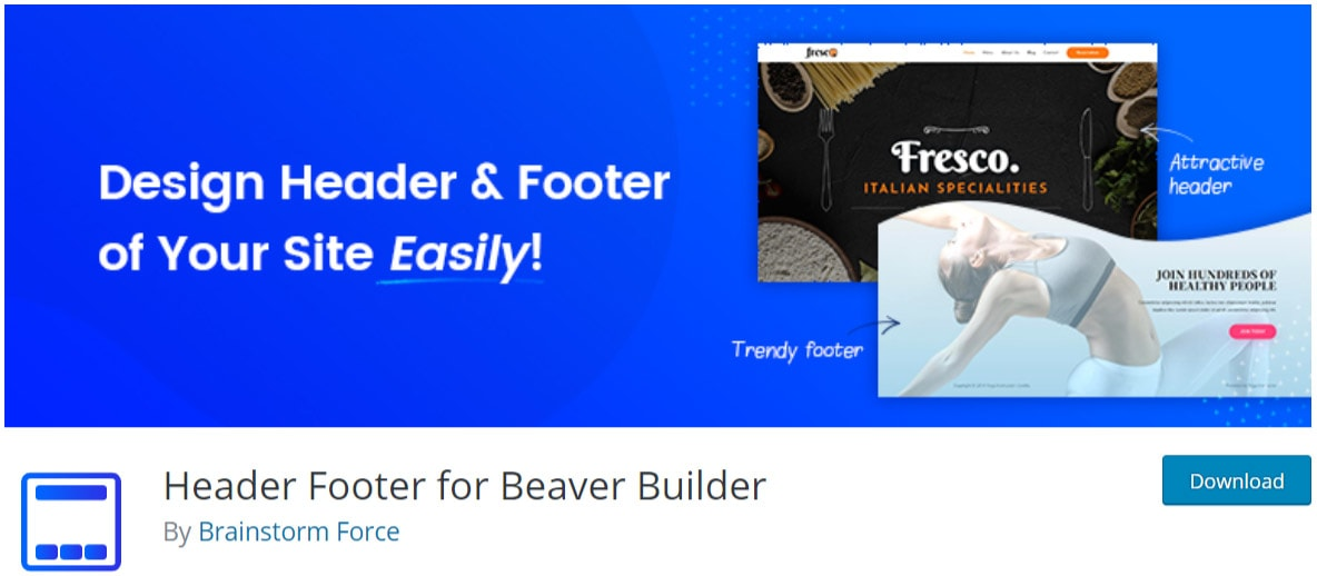 Header Footer for Beaver Builder image