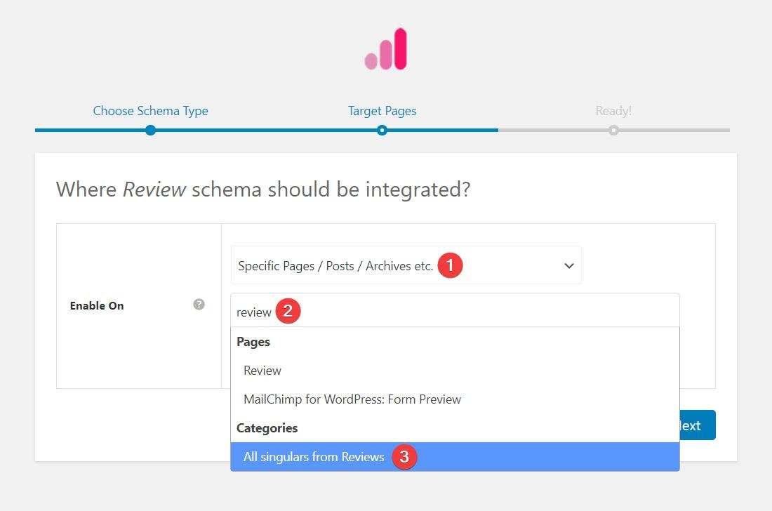 Review schema integration