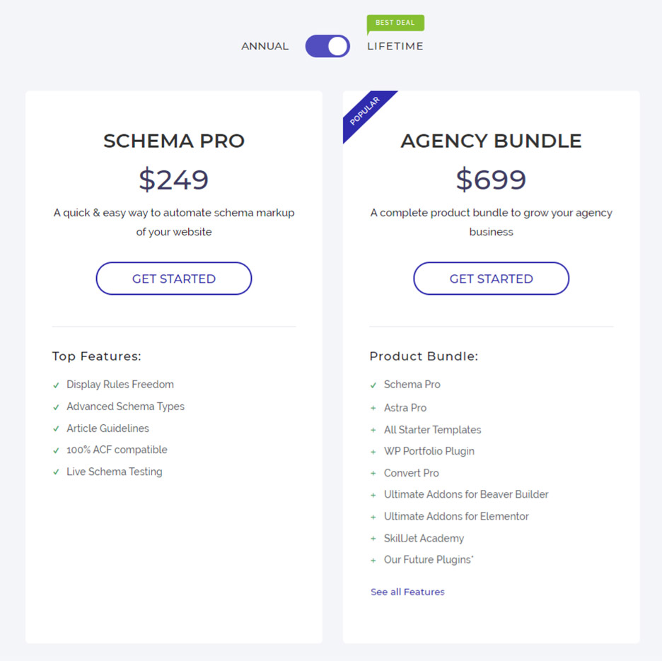 Schema Pro Lifetime pricing