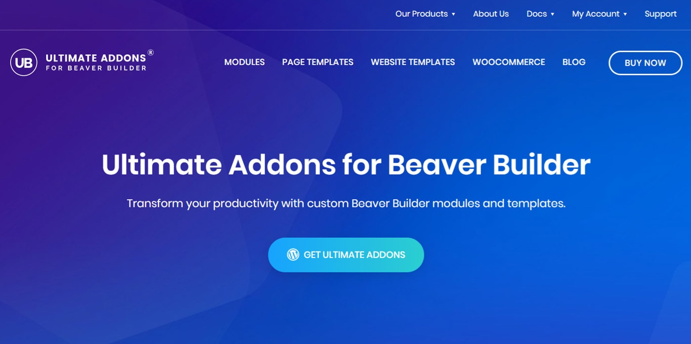 Ultimate Addons for Beaver Builder homepage