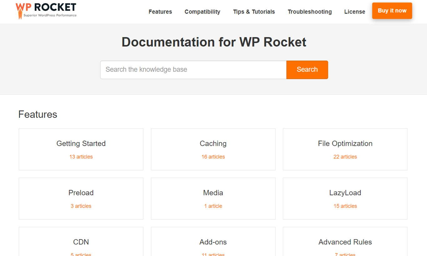 WP Rocket Knowledge base