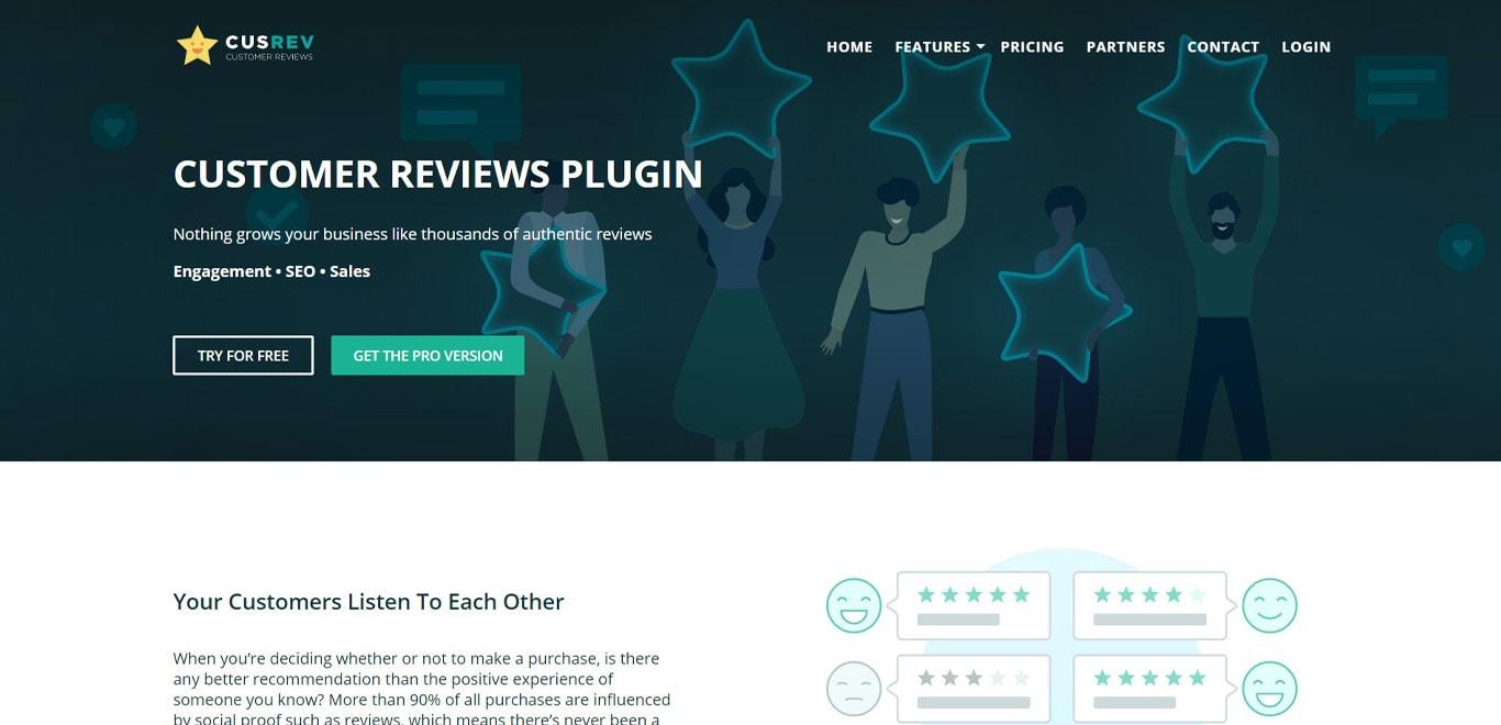 Customer reviews plugin image