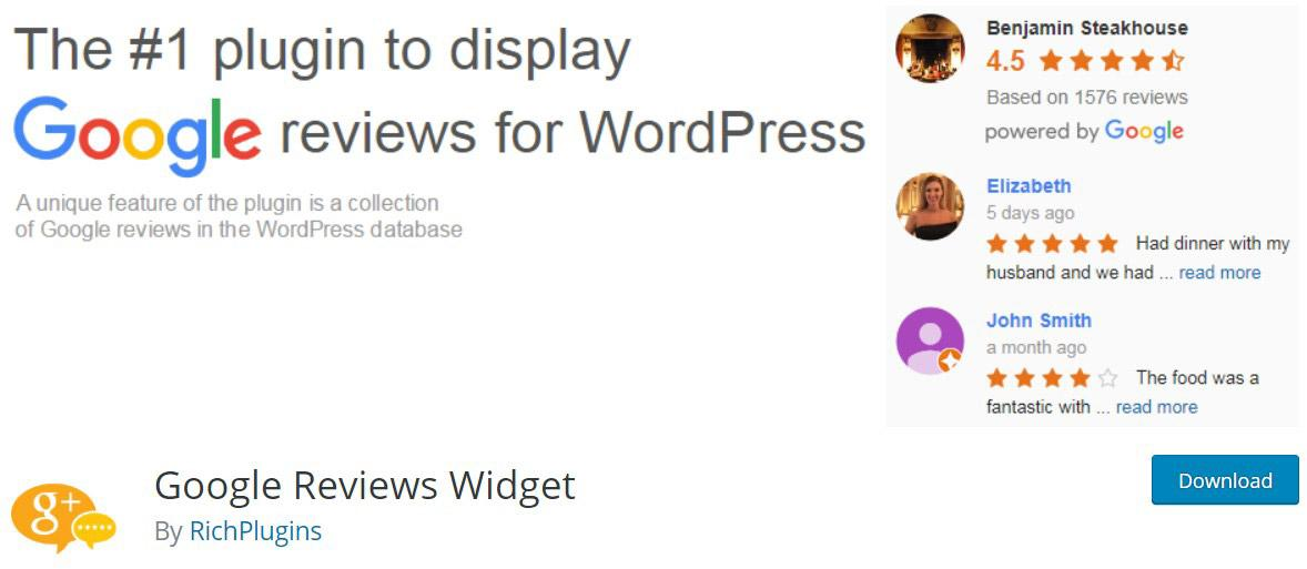 Google reviews widget image