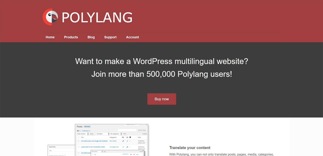 Polylang plugin site image