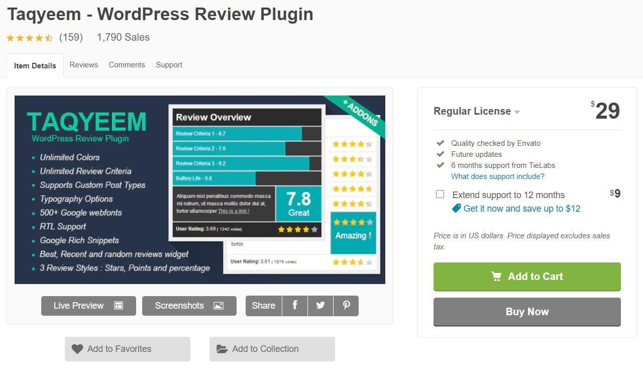 Taqyeem review plugin image