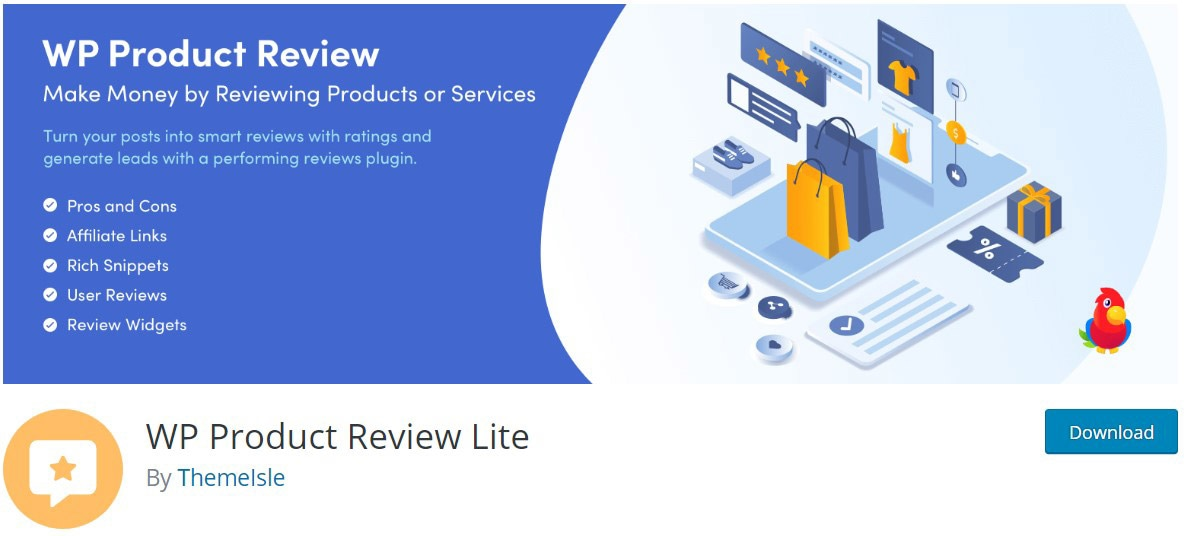 WP Product Review site