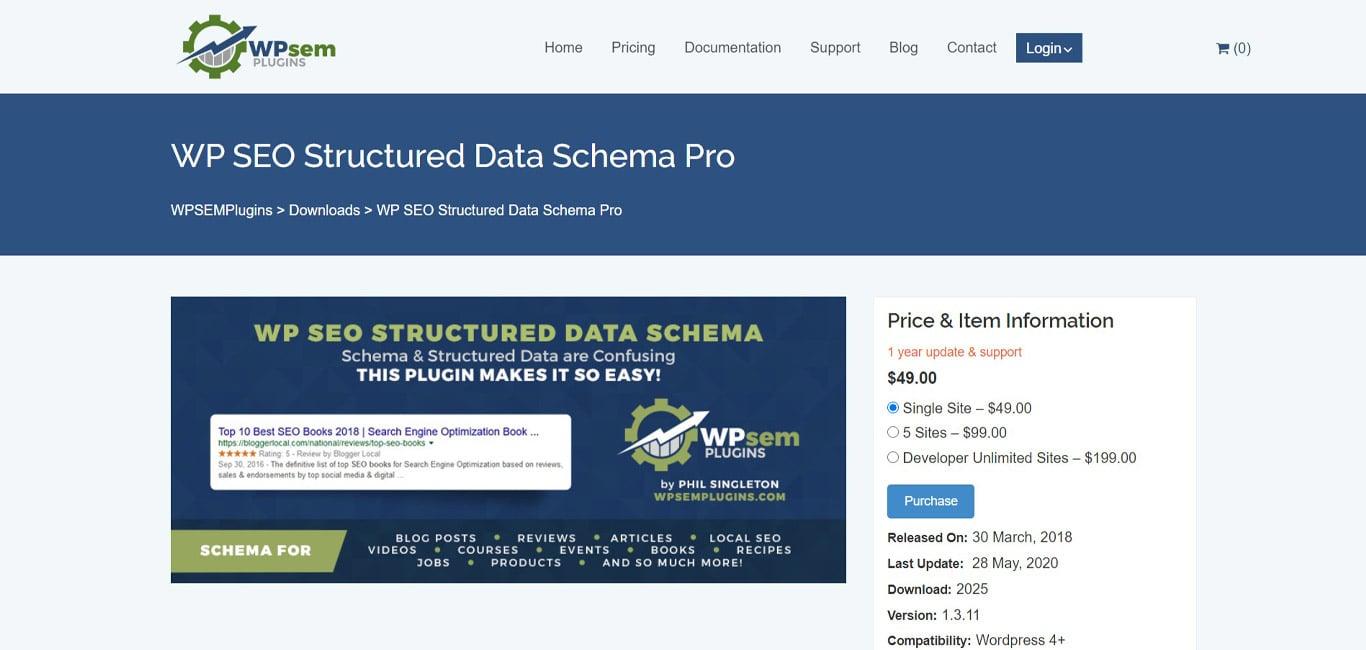 WP SEO Structured Data schema site
