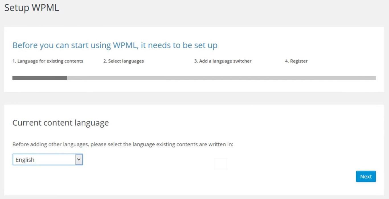 WPML plugin setup image