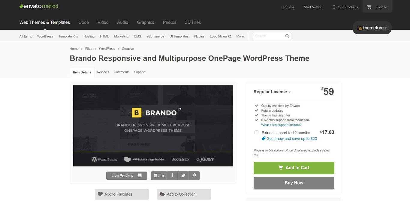 Brando site image