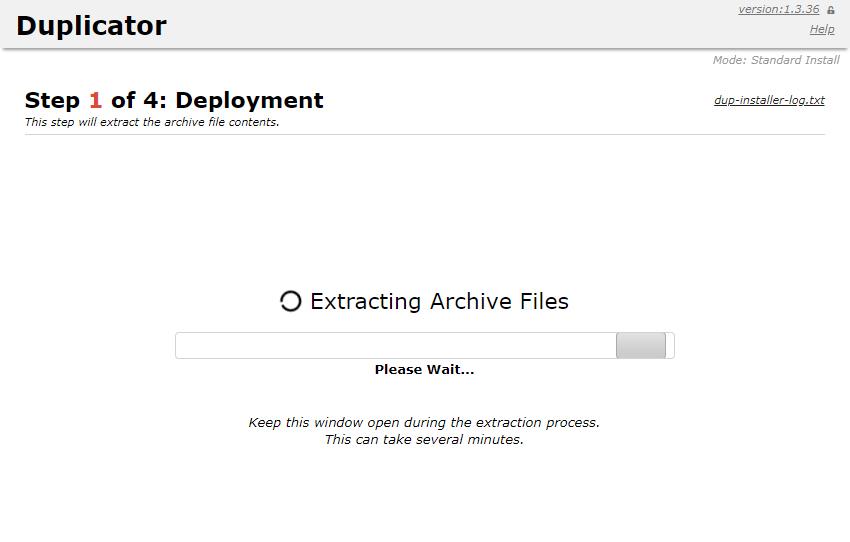 Duplicator archives
