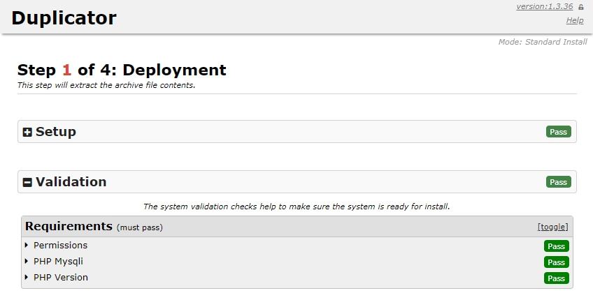 Duplicator deployment image
