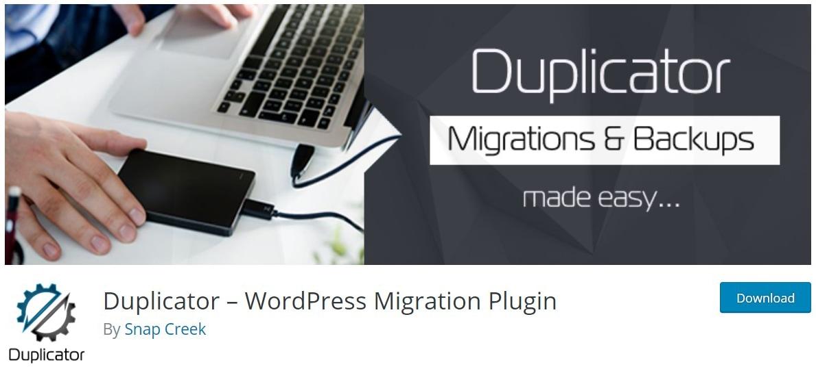 Duplicator plugin image