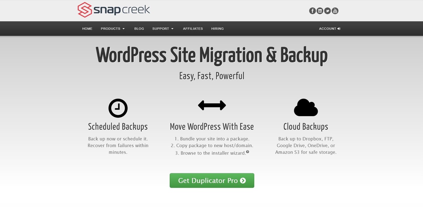 Duplicator site image