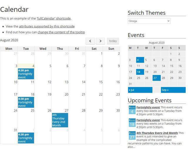 Image of event organizer plugin
