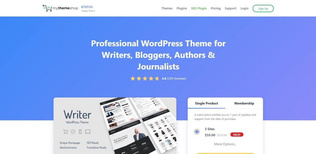 Writer site image