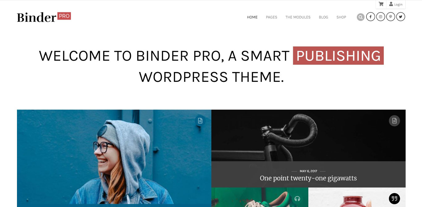 Binder pro theme image