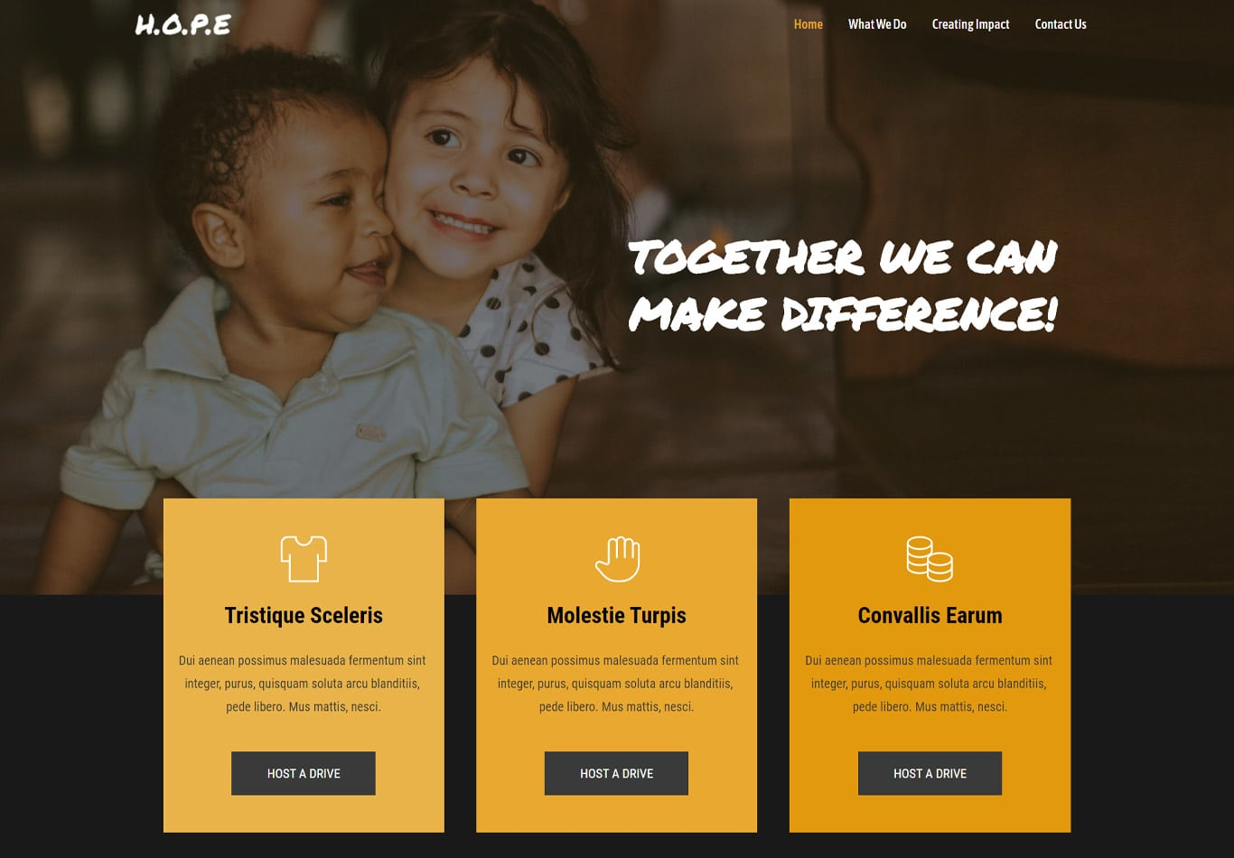 Charity brizy template