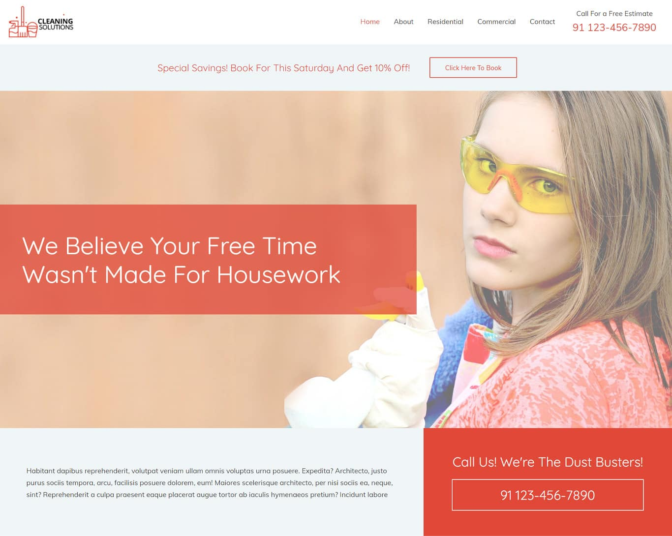 Cleaning services brizy template