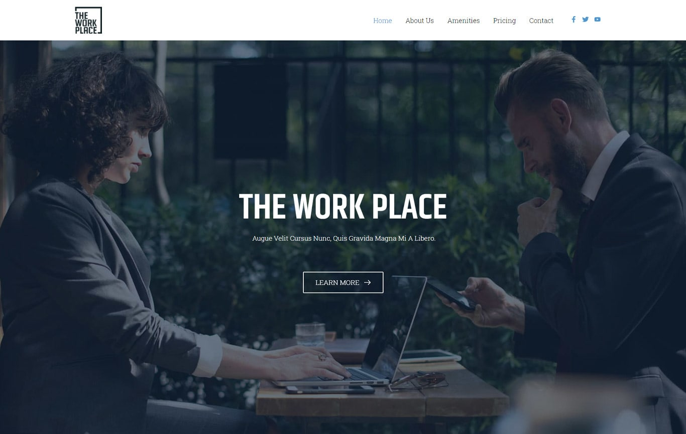 Co working space brizy template