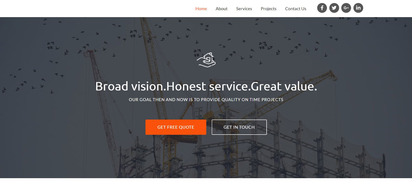 Construction brizy template