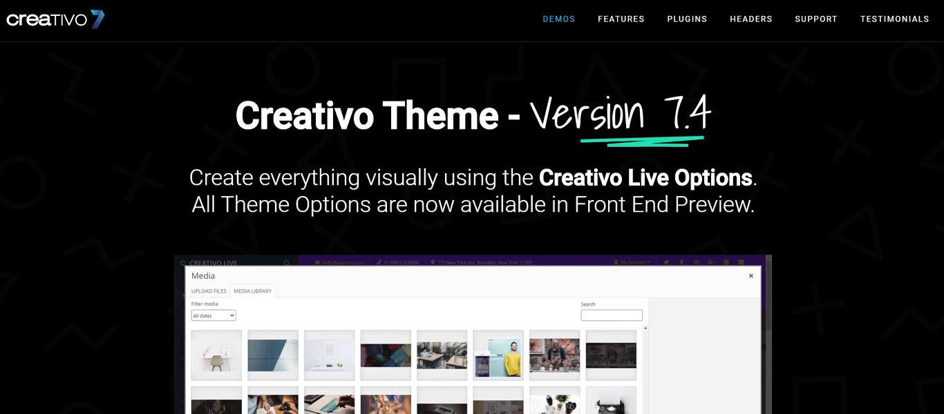 Creativo theme demo