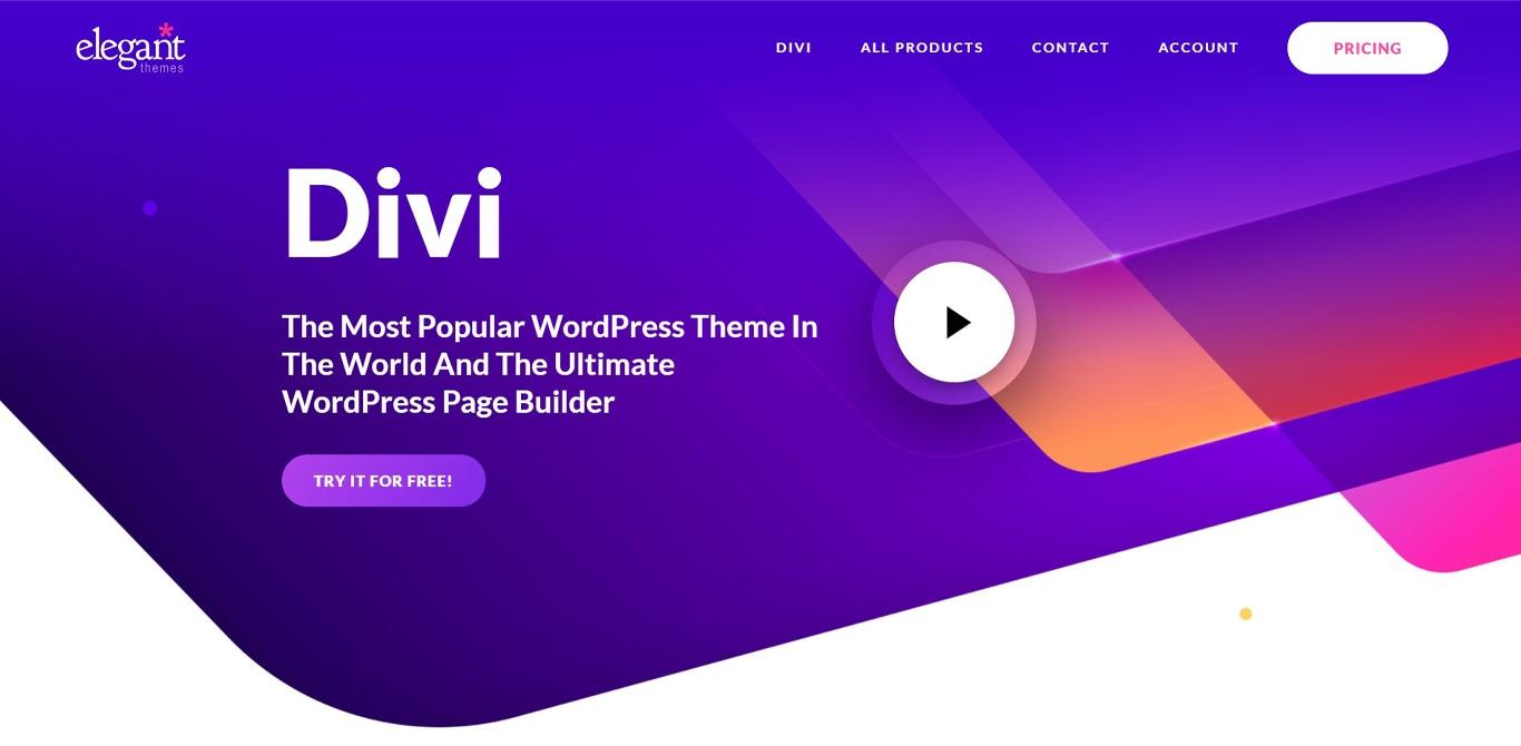 Divi theme site image