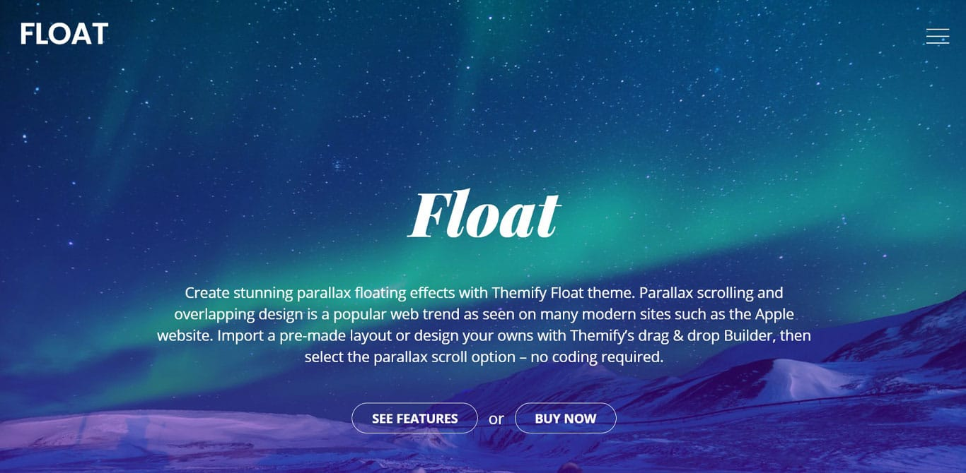 Float theme demo