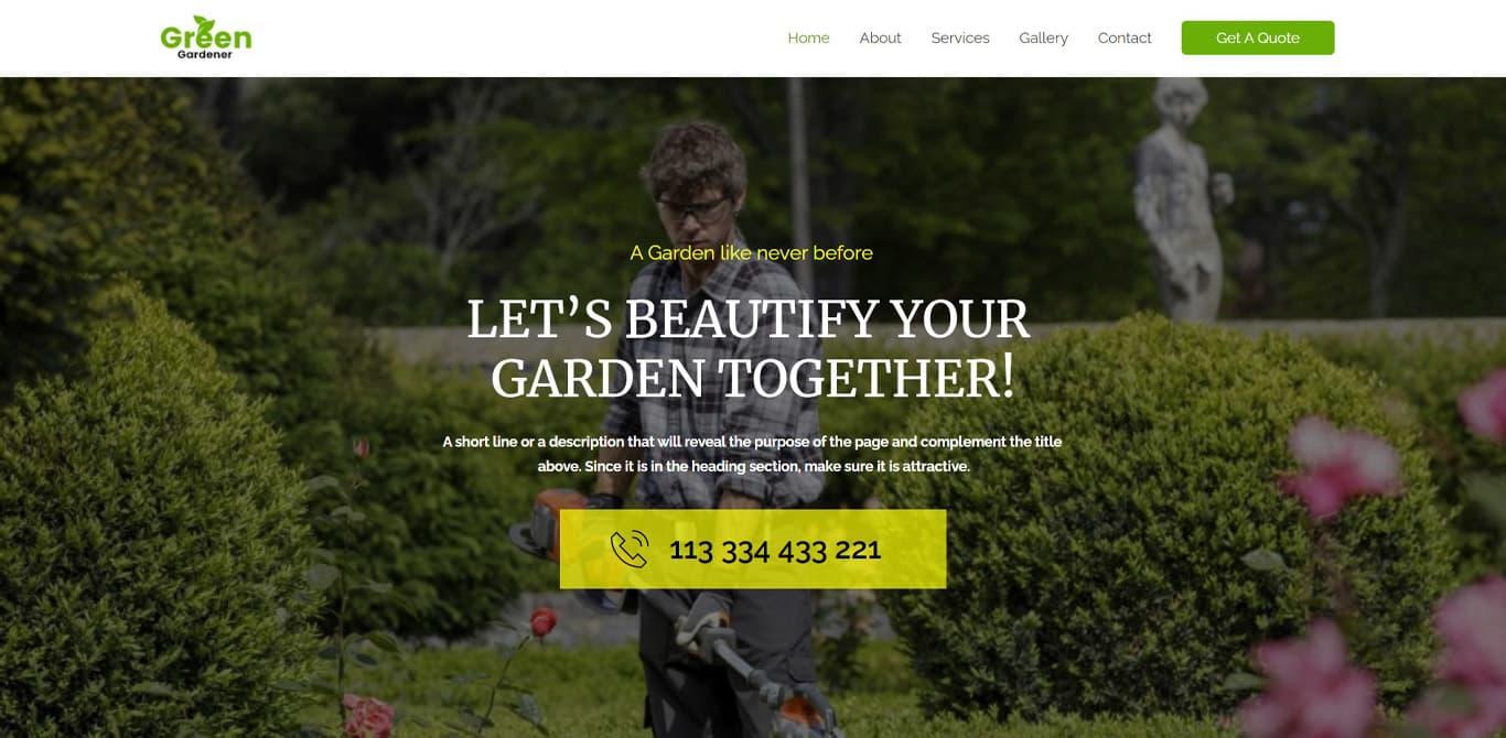 Gardening brizy template
